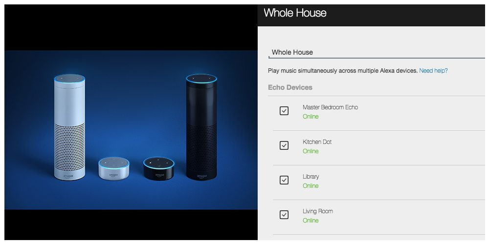 Amazon Echo Elevates Its Game With Alexa Multi-Room Audio Support