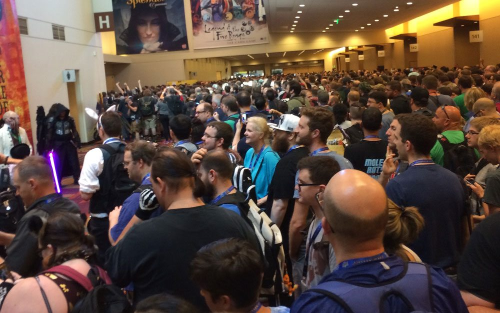 Gen Con waiting outside exhibit hall