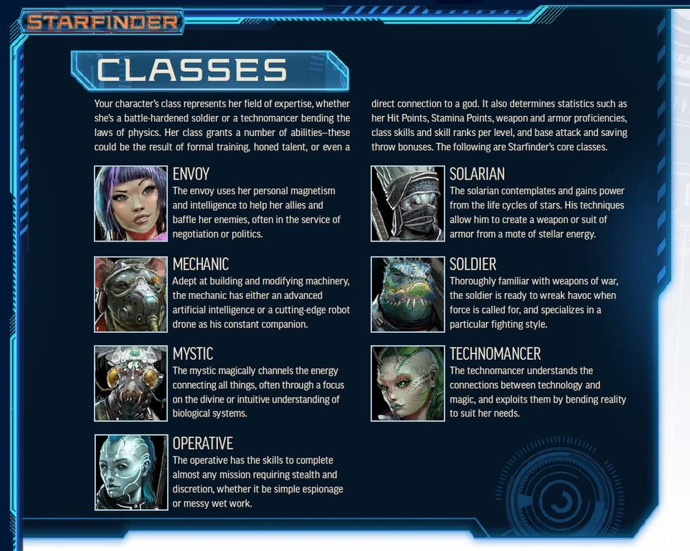Starfinder Classes