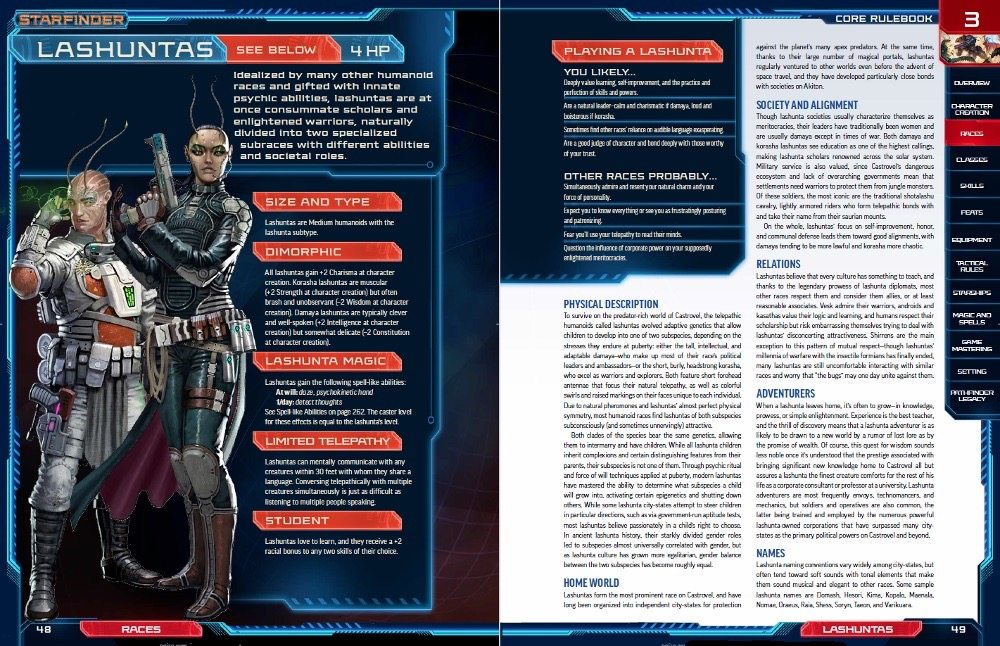 Starfinder Race Sample