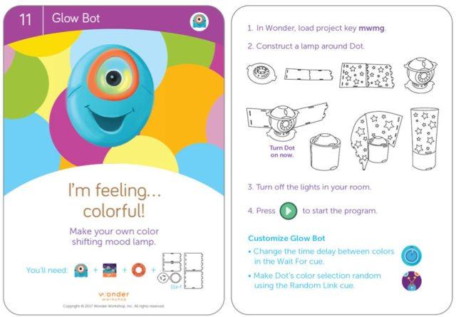Dot Glowbot card