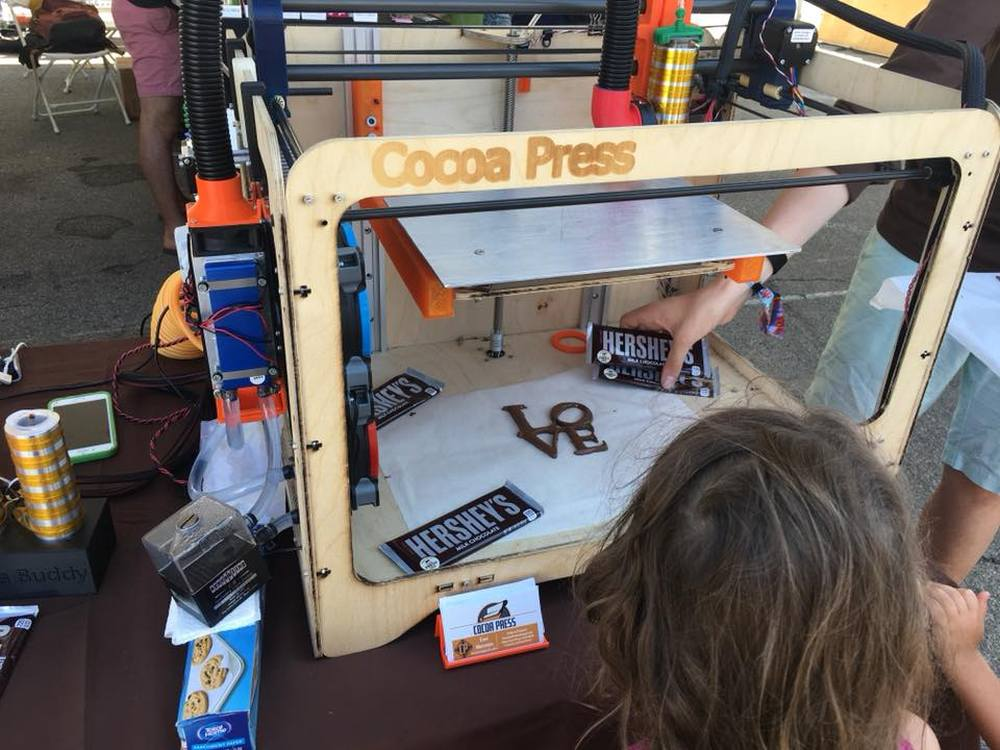 Wonderful weekend at NY Maker Faire: The Cocoa Press is a chocolate loving maker's dream come true. Photo: Andrew Terranova