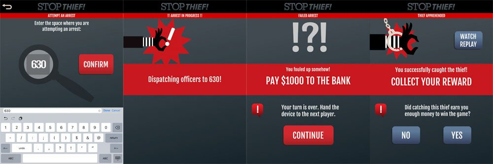 Stop Thief! Arrest screens