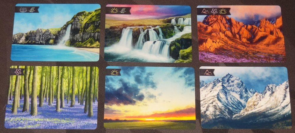 Sunset Over Water landscape cards