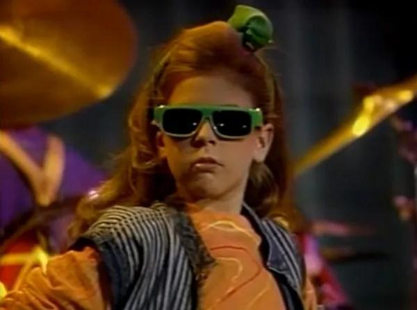 Renee Sands wearing sunglasses