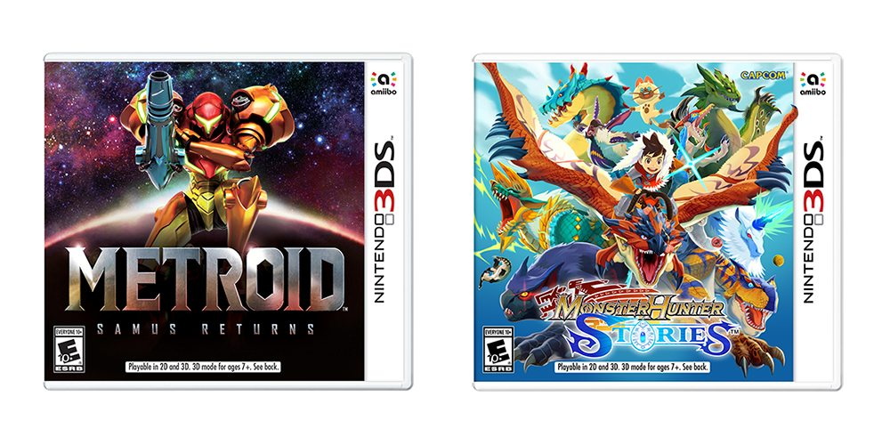 samus returns and monster hunter box art