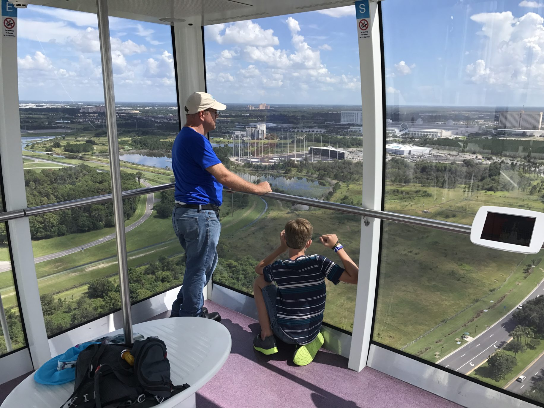 Relax and enjoy the view of the Orlando Eye Image: Dakster Sullivan