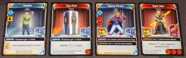 Clank! In! Space! arrive effects and danger effects