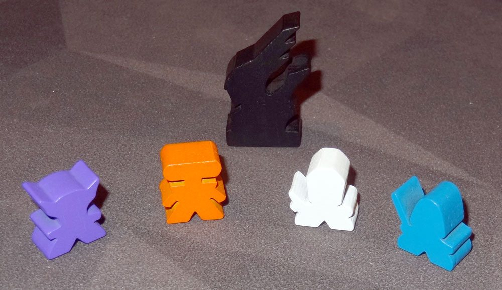 Clank! In! Space! meeples