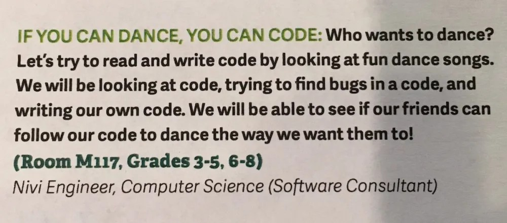 description of Dance Code workshop