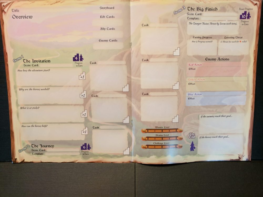 Storm Hollow Preludes Blank Adventure Planner, pages 4 & 5 of 8