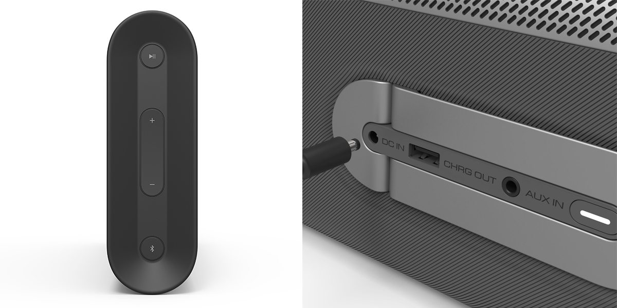 Vizio Crave Go Buttons and Ports  Image: Vizio