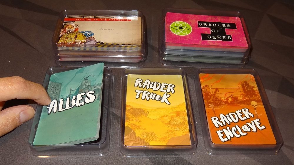 Wasteland Express card trays