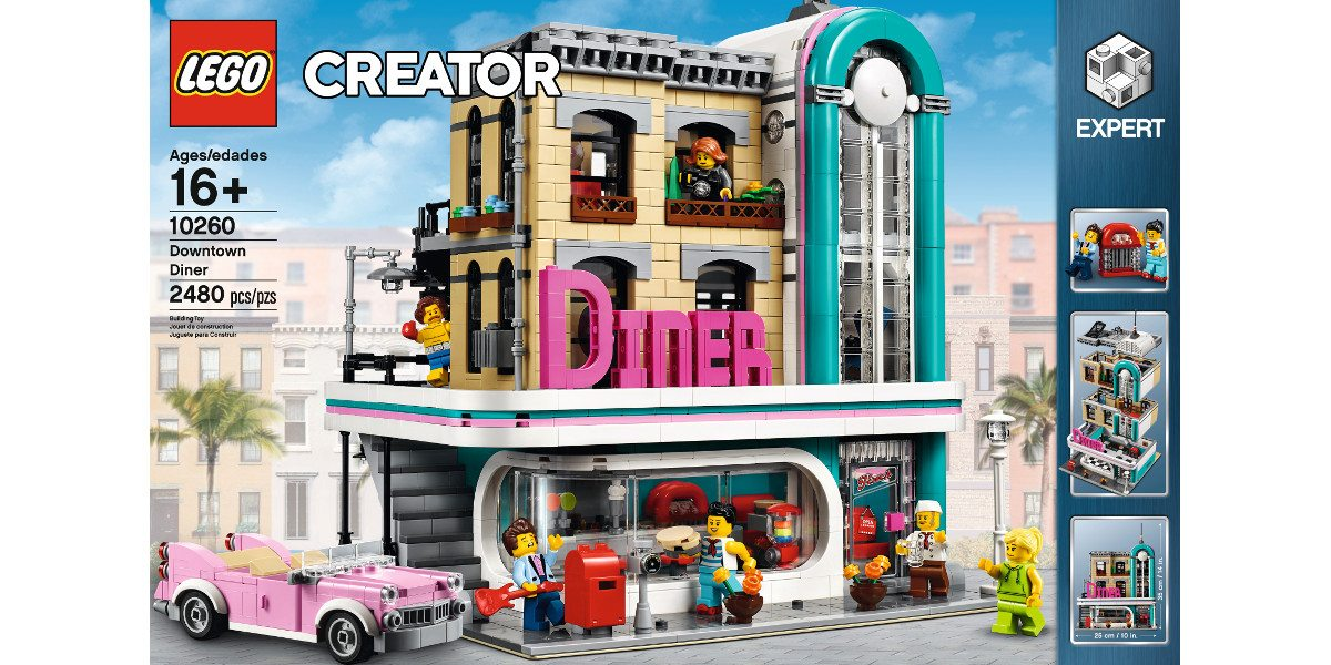 Announced Just Today Is The Newest Lego Creator Expert Set The Downtown Diner With 1950s Style And The Usual Modular Building Series Removable Building
