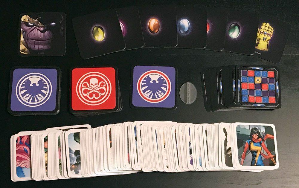 Codenames: Marvel components