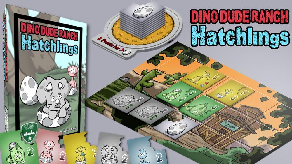 Kickstarter Tabletop Alert: 'Dino Dude Ranch: Hatchlings'