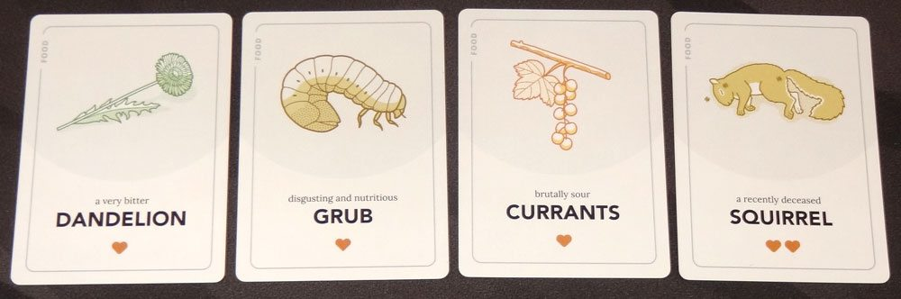 Ravine food cards