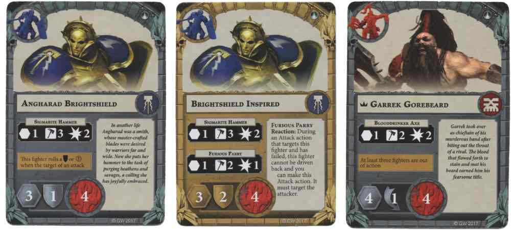 Shadespire hero cards.