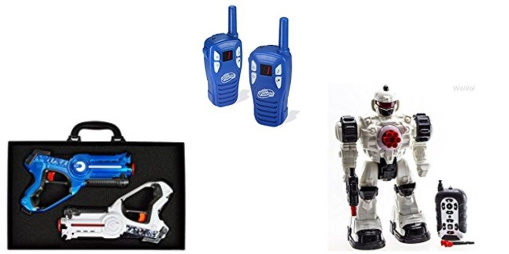 Geek Daily Deals 121917 laser tag walkie talkies RC robot