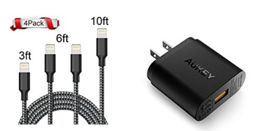 Geek Daily Deals 122717 lightening cables quick charger