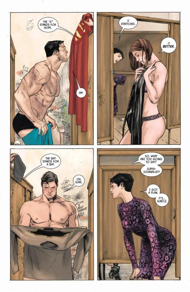 Lois, Clark, Bruce & Selina in Batman #37