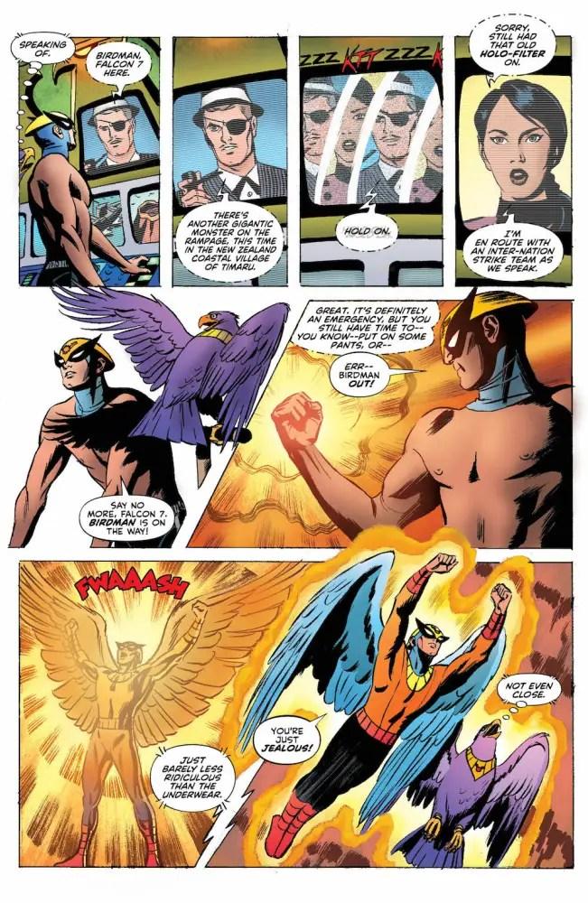 Birdman, Falcon 7, Avenger, Future Quest Presents #5 page 3