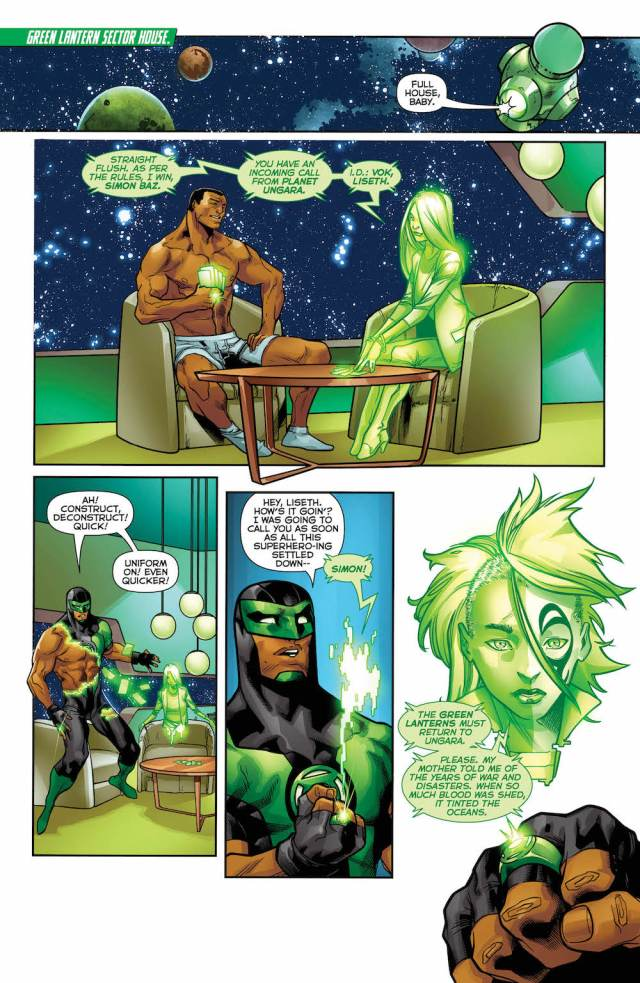 Green Lanterns #37, page 1, Simon Baz