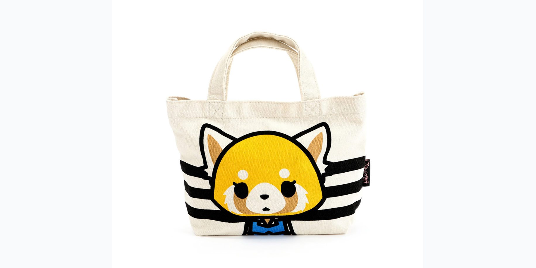 Aggretsuko Mini Canvas Tote Bag: Calm  Image: Sanrio