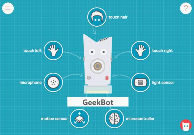 Main screen of Little Robot Friends app
