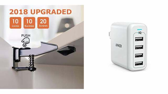 Geek Daily Deals 020918 safety latches usb charger