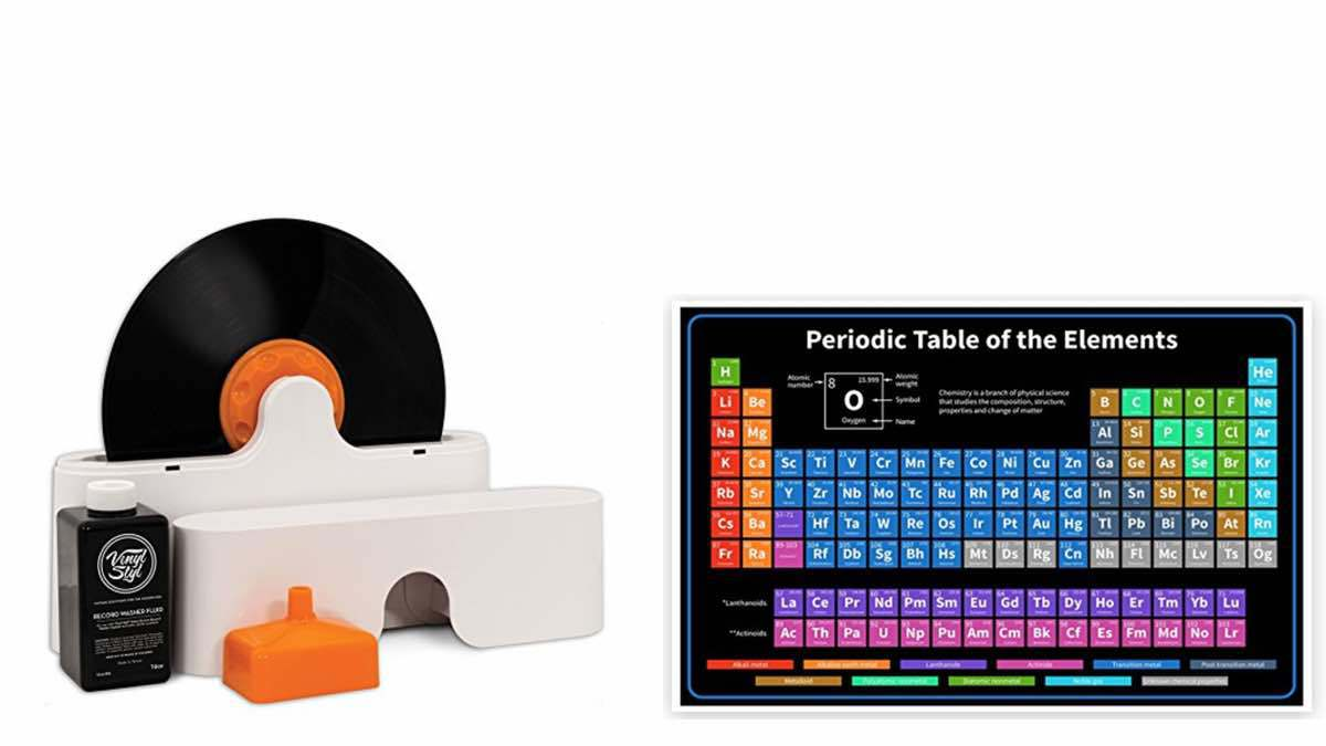 Geek Daily Deals 040618 record washer periodic table chart
