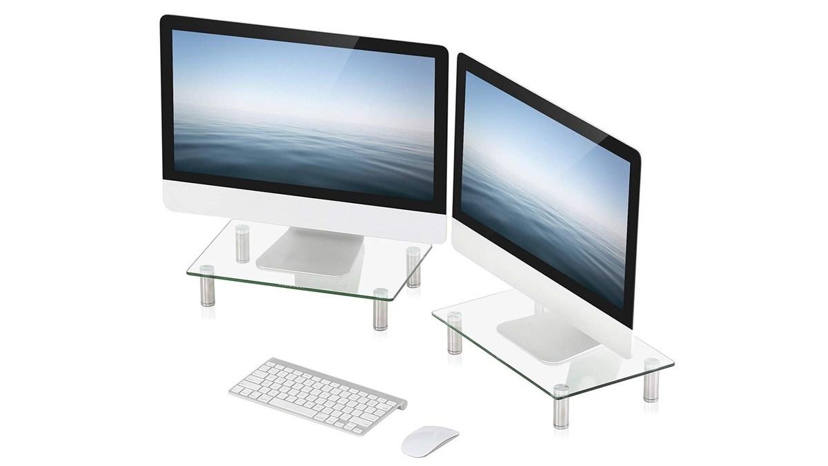 Geek Daily Deals 050619 glass monitor stands