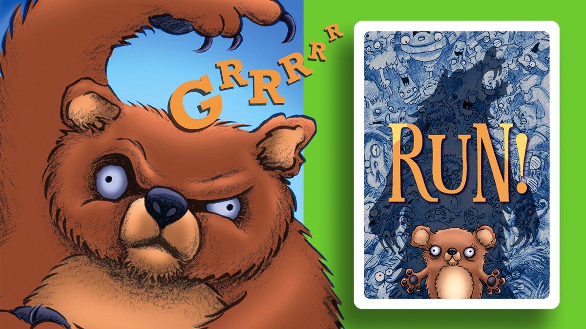Run! the card game mama bear and back of card