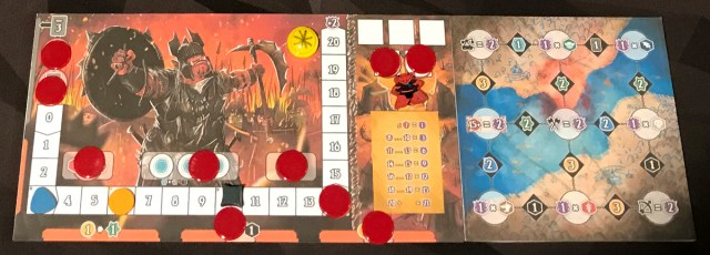 Shadow Kingdoms of Valeria Orc player board setup