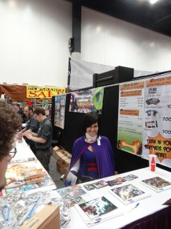 Greater Than Games, home of Sentinels of the Multiverse, had fans showing up in costume—so they let them get behind the counter and greet other fans.