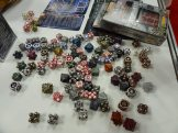 Oooh, shiny! Irondie from Irondrake features metal dice of all sorts of shapes.