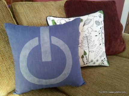 DIY: Power Button Pillow Sewing Project