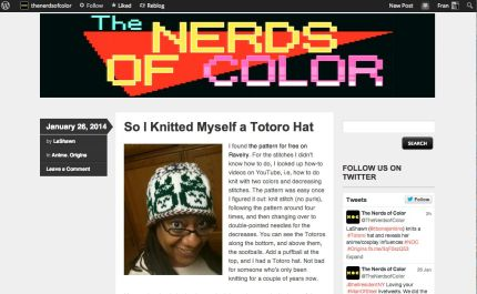 On Knitting Your Nerdery, Over at Nerds of Color