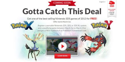 Register a Nintendo 3DS System and Select Game, Get Free Pokémon