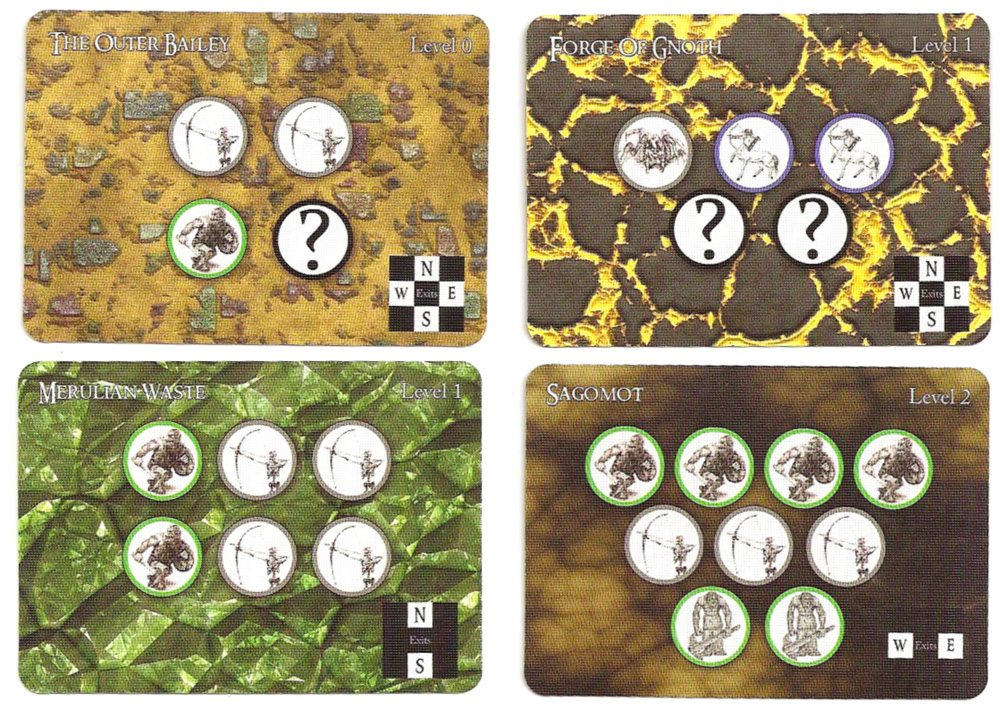 Catacombs room cards