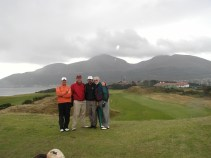 Ian with his father at Royal County Down.