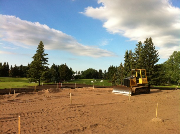 The first hole, under construction.