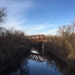 The North Loop train bridge.
