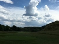 #14 - Par 3 - From the tee with giant cloud formation in the distance