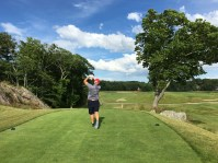 #16 - Par 4 - Brian driving from the new back tee
