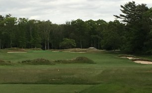 #10 - Par 4 - Tee view out over signature mounds