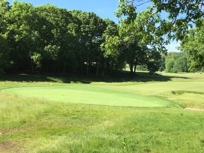 #4 - Par 4 - View from back left shows tilt of the green