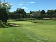 #2 - Par 4 - Approach down to the beautiful green setting