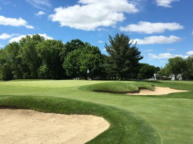 #8 - Par 3 - Short left bunkering