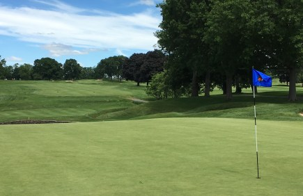 #9 - Par 4 - Green back to the rolling fairway
